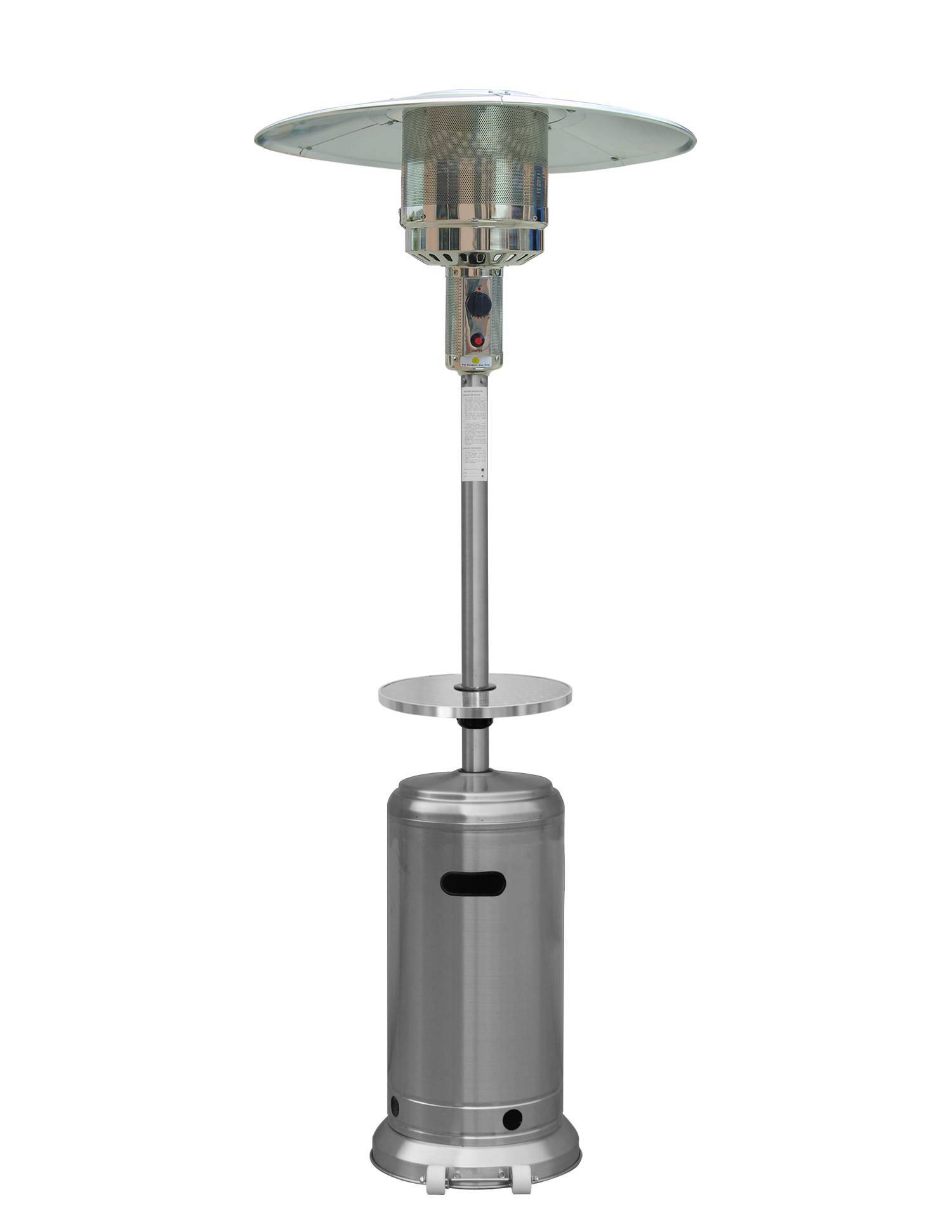 87″ Tall Stainless Steel Outdoor Patio Heater with Table – The