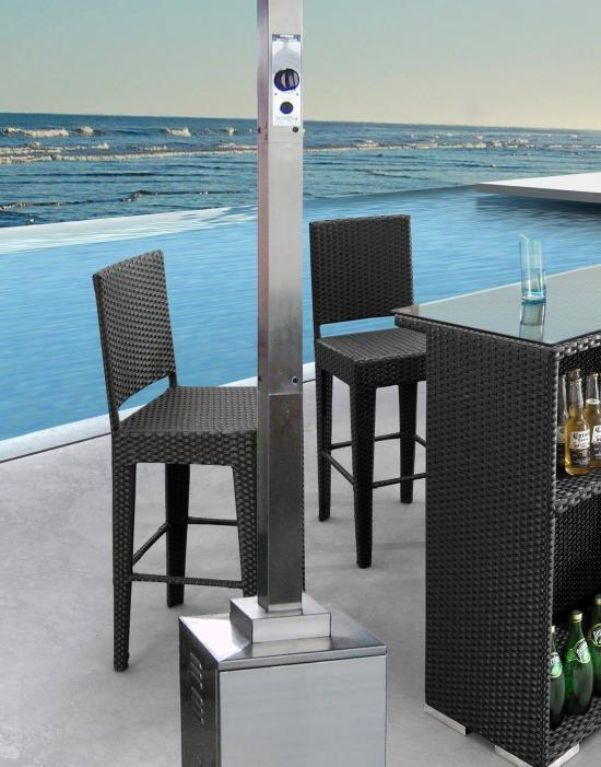 91 Inch Tall Commercial Grade Patio Heater ( Stainless Steel )