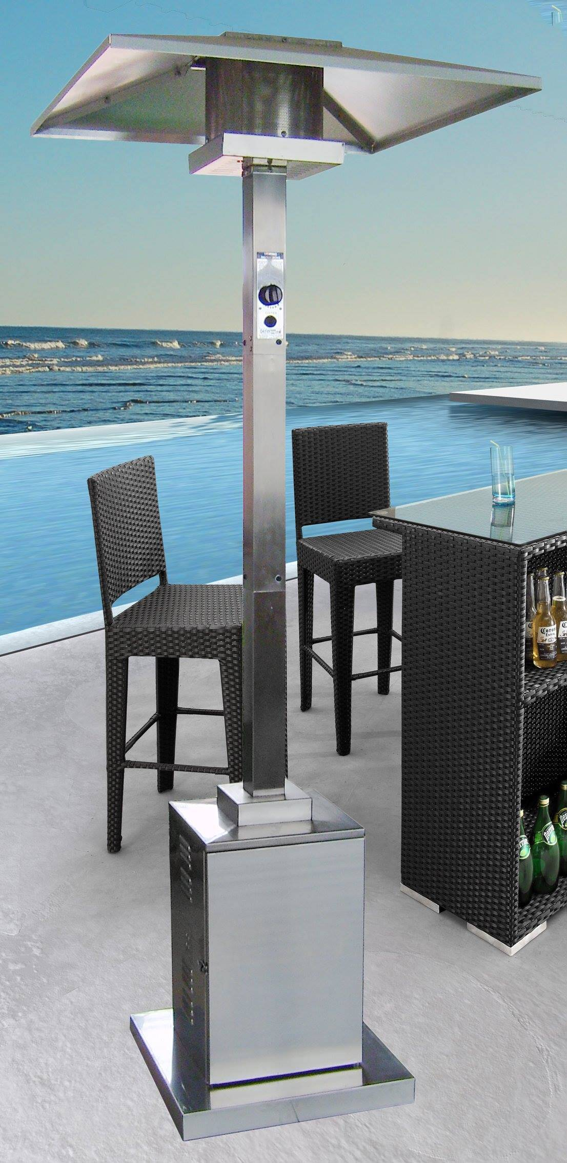 91 Inch Tall mercial Grade Patio Heater Stainless Steel