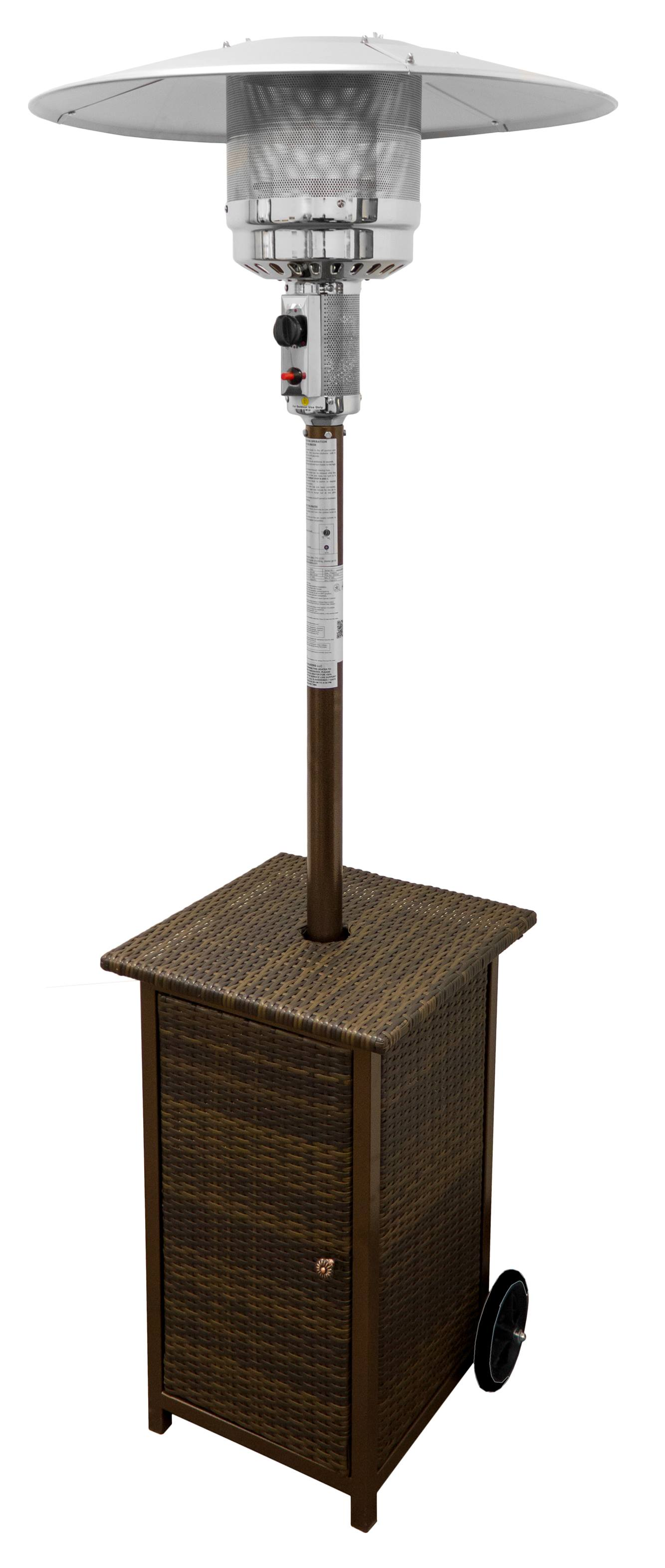 87 Tall Square Wicker Patio Heater With Table 1