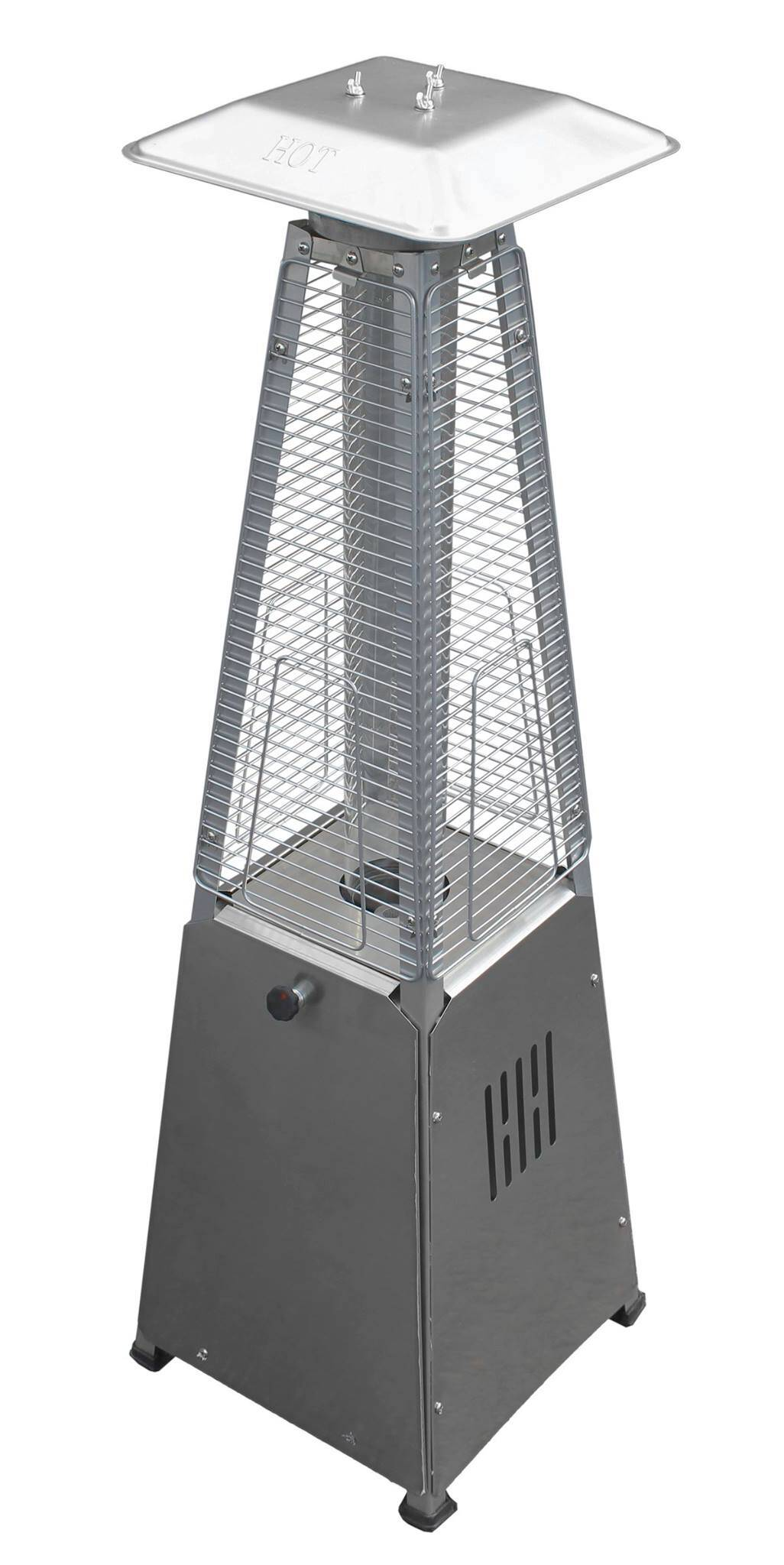 39u2033 Tall Radiant Heat Glass Tube Outdoor Patio Heater (Stainless Steel) 1