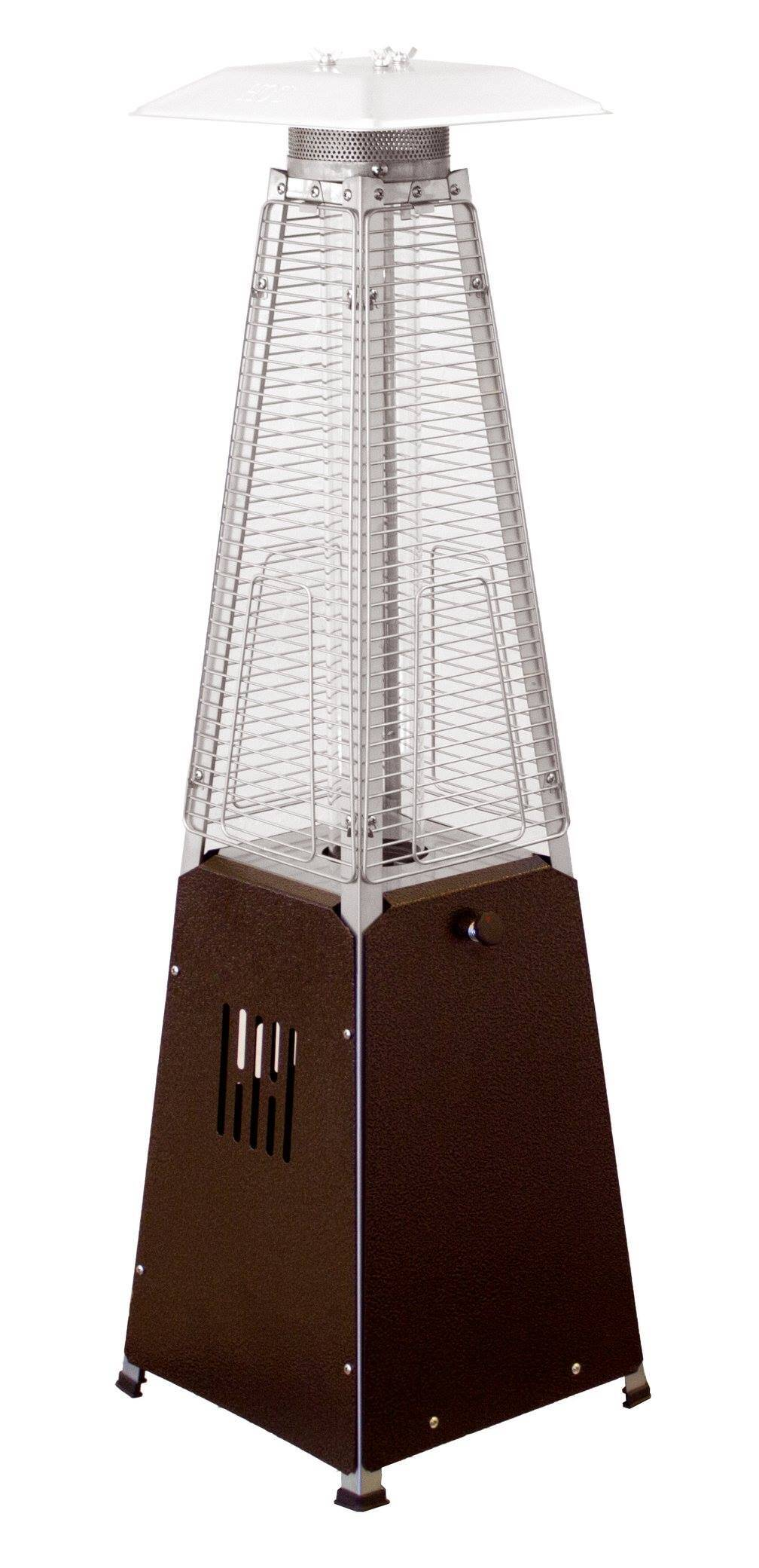 39u2033 Tall Radiant Heat Glass Tube Outdoor Patio Heater (Hammered Bronze) 1