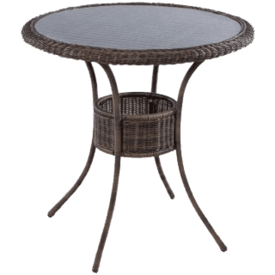"BAINBRIDGE BARK 42"" ROUND BAR TABLE"