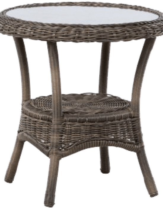 "BAINBRIDGE BARK 24"" ROUND SIDE TABLE"