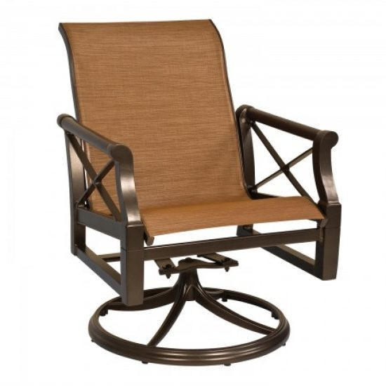 Andover Sling Swivel Rocker Dining Arm Chair