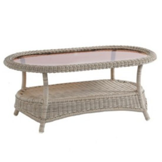 "BAINBRIDGE BREVE 44.5"" OVAL COFFEE TABLE"