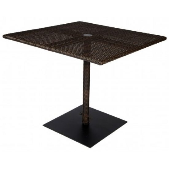 All-Weather 36 In. Square Umbrella Table