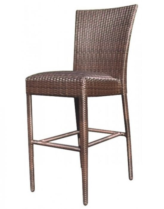 All-Weather Padded Seat Bar Stool Without Arms