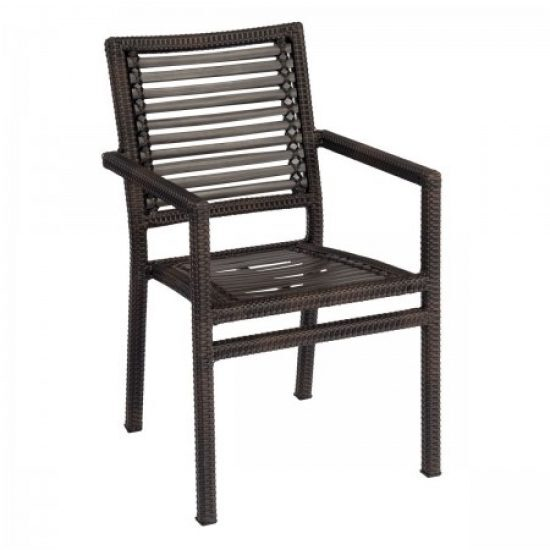 All-Weather South Beach Dining Armchair (Coffee Weave Only)