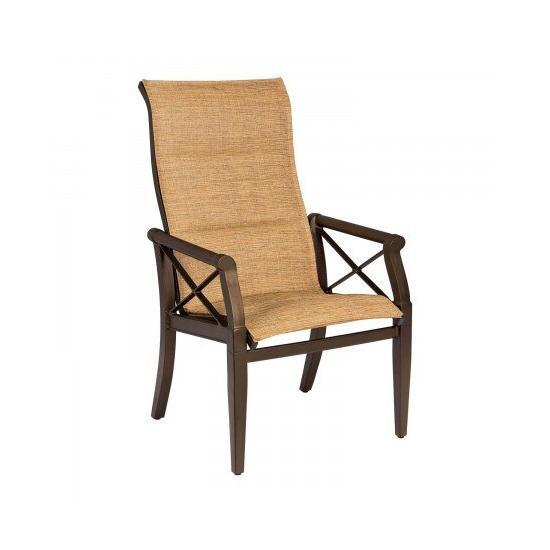 Andover Padded Sling High-Back Dining Arm Chair
