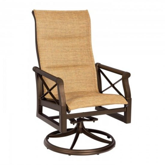 Andover Padded Sling High-Back Swivel Rocker