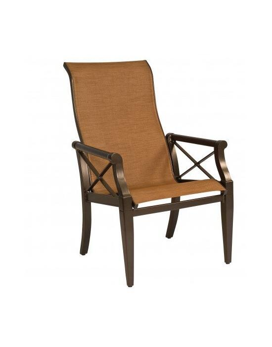 Andover Sling High-Back Dining Arm Chair