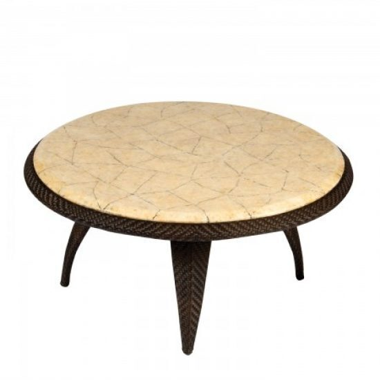 Bali Coffee Table With Stone Top