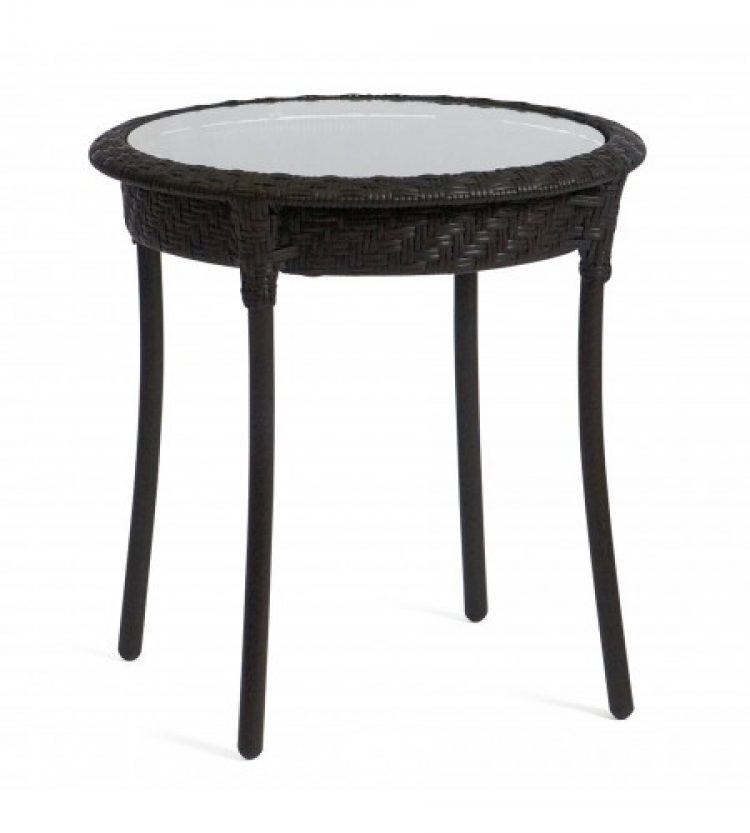 barlow 22 round end table dark roast