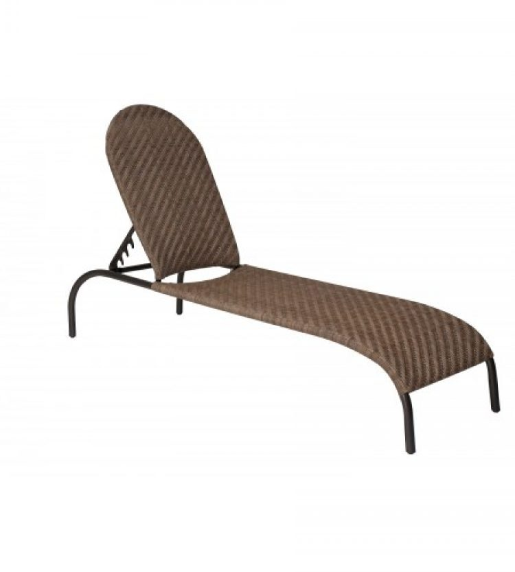 barlow adjustable chaise lounge stackable bronzed teak