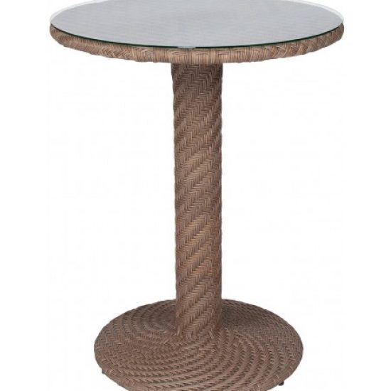 Barlow Bar Height Table - Bronzed Teak