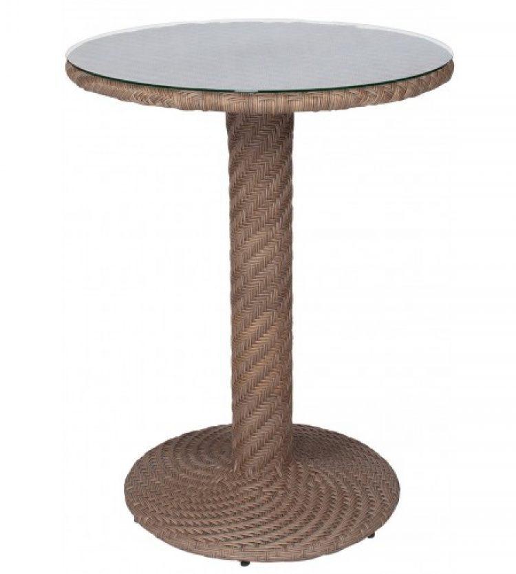 barlow bar height table bronzed teak
