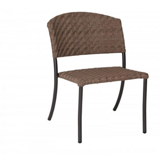 Barlow Dining Side Chair - Stackable - Bronzed Teak