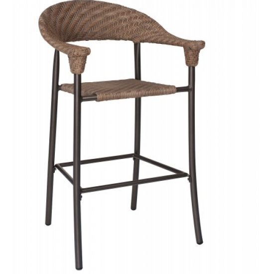 Barlow Stationary Bar Stool - Bronzed Teak