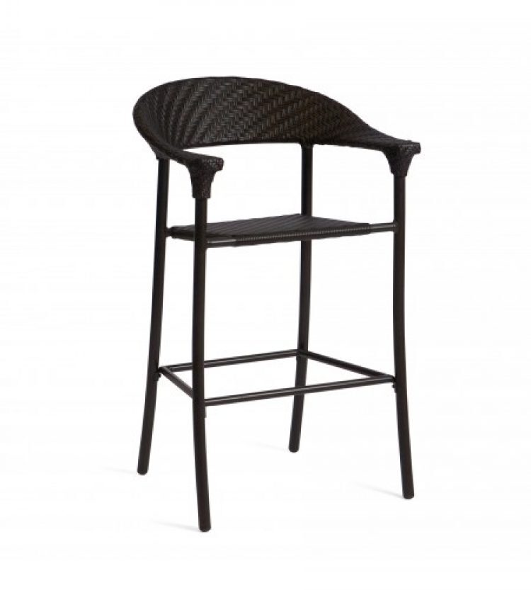 barlow stationary bar stool dark roast