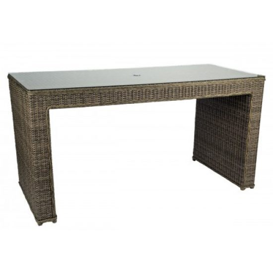 Bay Shore Rectangular Counter Table With Glass Top