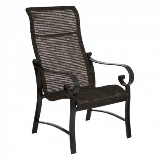 Belden Round Weave High-Back Dining Arm Chair