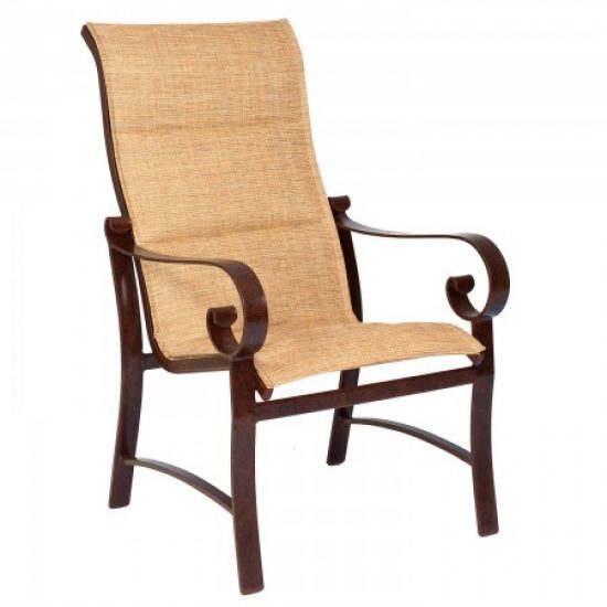 Belden Padded Sling High-Back Dining Arm Chair