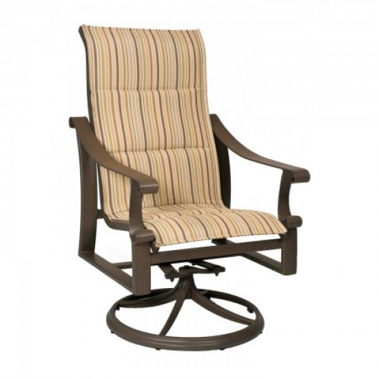 Bungalow Padded Sling High-Back Swivel Rocker
