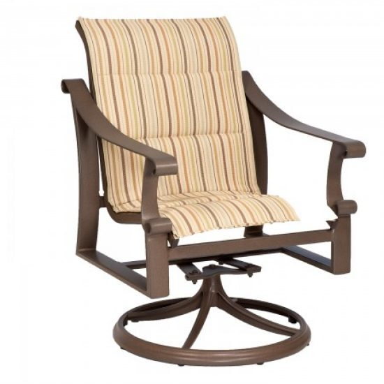 Bungalow Padded Sling Swivel Rocker