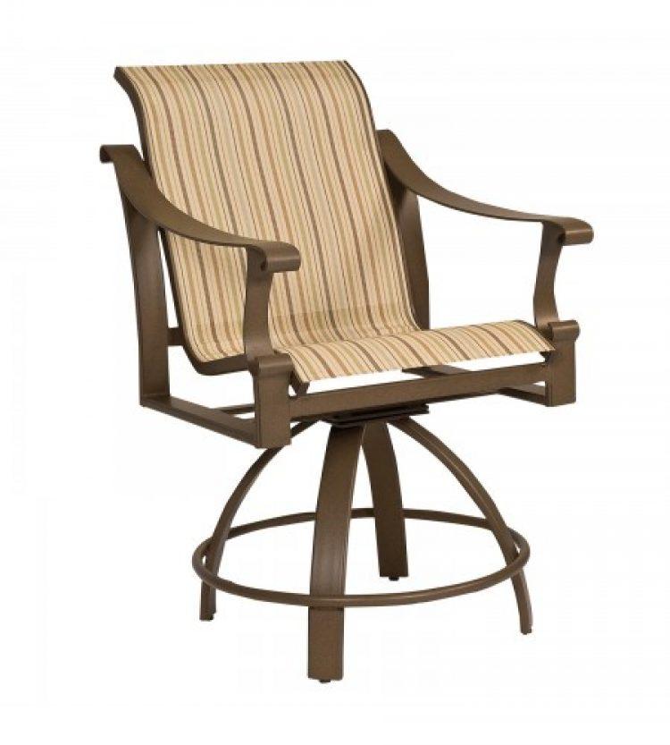 bungalow sling swivel counter stool
