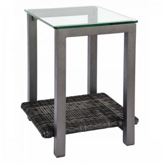 Canaveral End Table With Glass Top