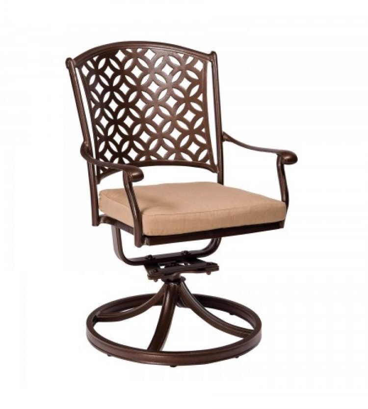 Casa Swivel Rocking Dining Arm Chair With Optional Seat Cushions