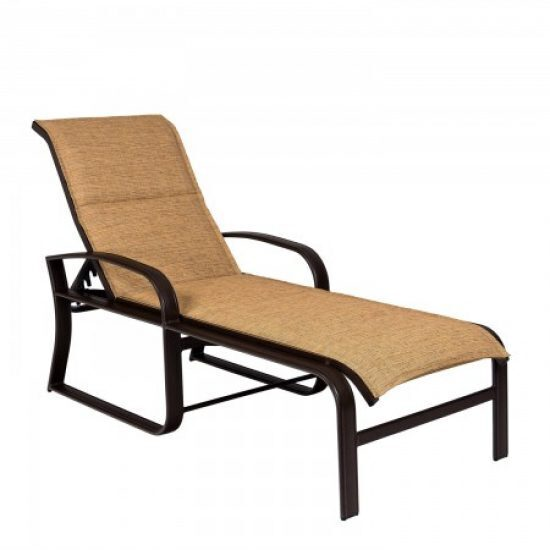 Cayman Isle Padded Sling Adjustable Chaise Lounge