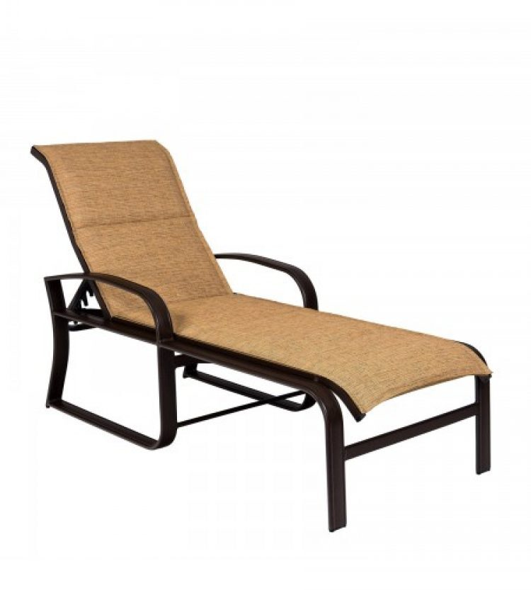cayman isle padded sling adustable chaise lounge