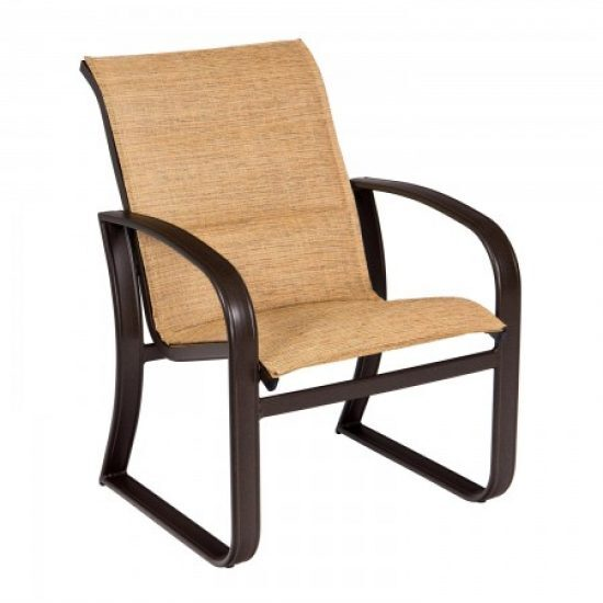 Cayman Isle Padded Sling Dining Arm Chair