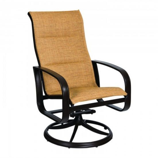 Cayman Isle Padded Sling High-Back Swivel Rocker