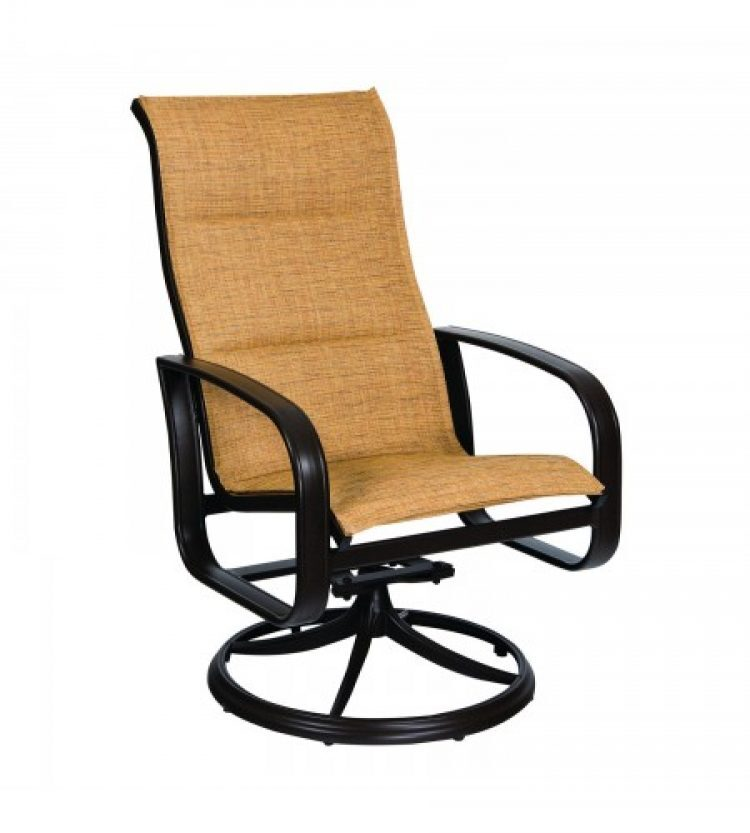cayman isle padded sling high back swivel rocker