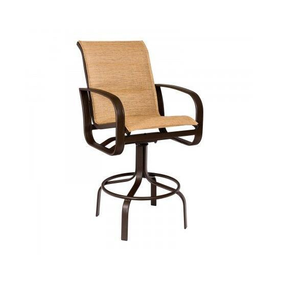 Cayman Isle Padded Sling Swivel Bar Stool