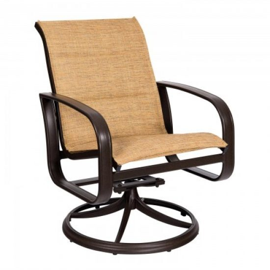 Cayman Isle Padded Sling Swivel Rocker