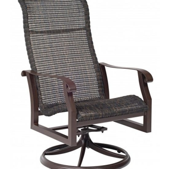 Cortland Round Weave High-Back Swivel Rocker