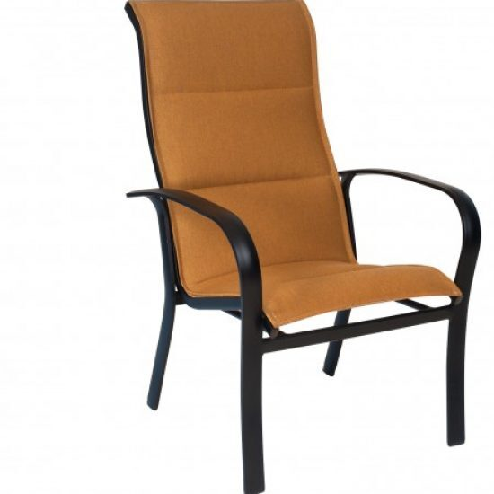 Fremont Padded Sling High-Back Dining Arm Chair - Stackable