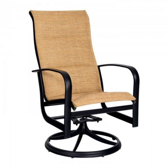 Fremont Padded Sling High-Back Swivel Rocker