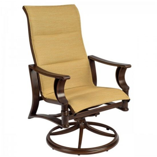 Arkadia Padded Sling High-Back Swivel Rocker