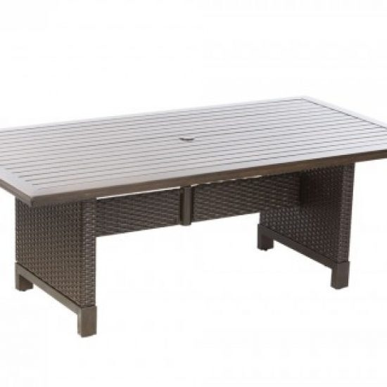 "LA LIMA 84"" RECT. DINING TABLE W/ UMB. HOLE"
