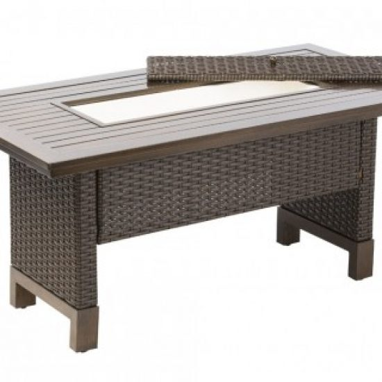 LA LIMA RELAXED DINING TABLE W/ BEVERAGE COOLER INSERT