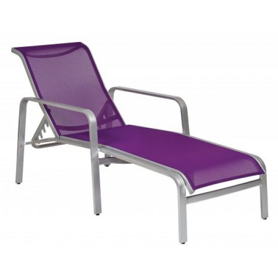 Landings Sling Adjustable Chaise Lounge - Stackable