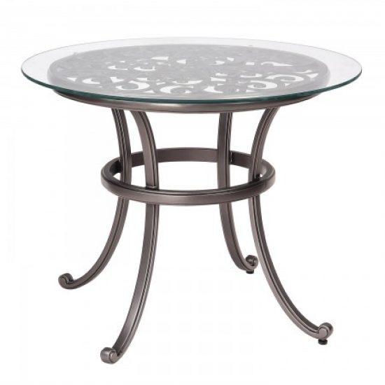 New Orleans Bistro Table With Glass Top