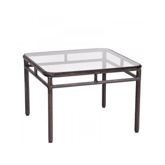 Nob Hill End Table With Glass Top