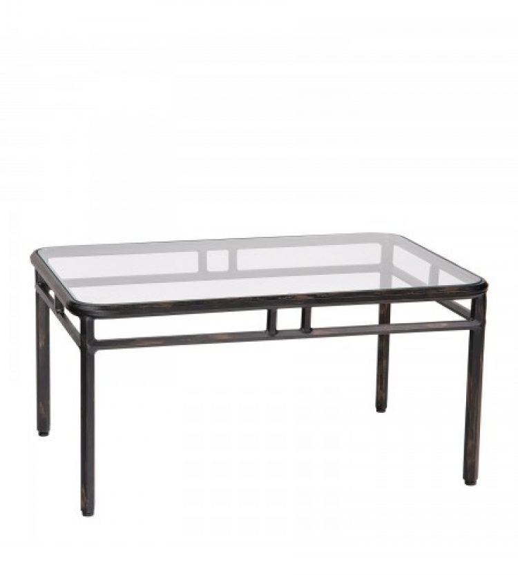 Nob Hill Rectangular Coffee Table With Glass Top