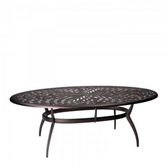Apollo Oval Umbrella Dining Table